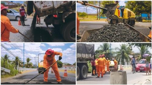 INGÁ: operação tapa buracos complica trânsito