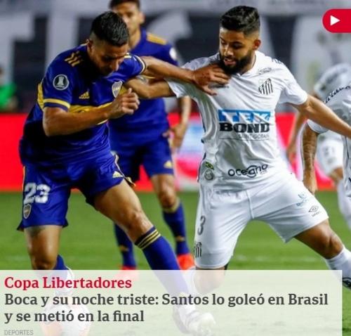 Santos massacra o Boca e imprensa argentina repercute derrota na Libertadores