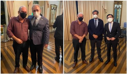 Burity tem encontro com Azevedo, Marcelo Queiroga e Gilson Machado