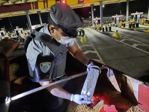 Mais de 8 toneladas de maconha são achadas em caminhão