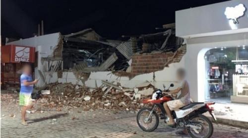 Em São Bento, duas agências bancárias são explodidas na madrugada
