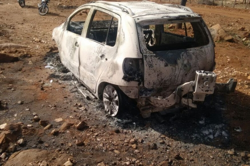 Polícia prende suspeito de matar e queimar comerciante dentro de carro