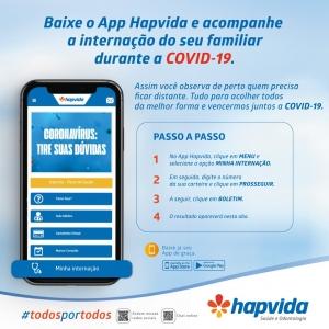 Aplicativo do Hapvida permite acompanhar internação de pacientes com C19